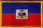 Haiti Embroidered Flag Patch, style 08.